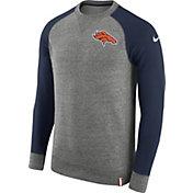 Nike Men's Denver Broncos AW77 Carbon Heather Crew Top