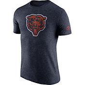 Nike Men's Chicago Bears Tri-Blend Historic Logo Navy T-Shirt