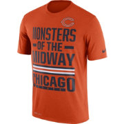 Nike Men's Chicago Bears 'Monsters of the Midway' Performance Orange T-Shirt