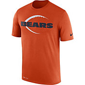Nike Men's Chicago Bears Legend Football Icon Performance Orange T-Shirt