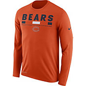 Nike Men's Chicago Bears Legend Staff Orange Long Sleeve Shirt
