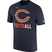Nike Men's Chicago Bears Sideline 2017 Legend Football Performance Navy T-Shirt