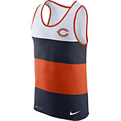 Nike Men's Chicago Bears Wide Stripe Performance Orange Tank Top
