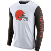 Nike Men's Cleveland Browns Championship Drive 2.0 Long Sleeve Shirt