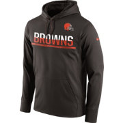 Nike Men's Cleveland Browns Circuit Pullover Dark Brown Hoodie