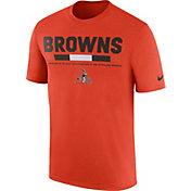Nike Men's Cleveland Browns Sideline 2017 Legend Staff Performance Orange T-Shirt