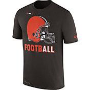 Nike Men's Cleveland Browns Sideline 2017 Legend Football Performance Brown T-Shirt