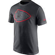 Nike Men's Kansas City Chiefs Travel Reflective Anthracite T-Shirt