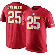 Nike Men's Kansas City Chiefs Jamaal Charles #25 Pride Red T-Shirt