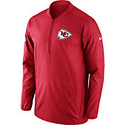 Nike Men's Kansas City Chiefs Sideline 2017 Lockdown Red Half-Zip Performance Jacket