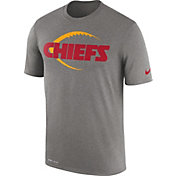 Nike Men's Kansas City Chiefs Legend Football Icon Performance Grey T-Shirt