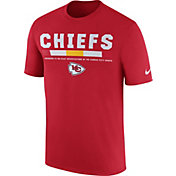 Nike Men's Kansas City Chiefs Sideline 2017 Legend Staff Performance Red T-Shirt