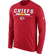 Nike Men's Kansas City Chiefs Legend Staff Red Long Sleeve Performance Shirt