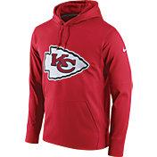 Nike Men's Kansas City Chiefs Performance Circuit Logo Essential Red Hoodie