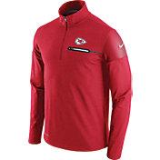 Nike Men's Kansas City Chiefs Sideline 2016 Elite Coaches Quarter-Zip Red Pullover