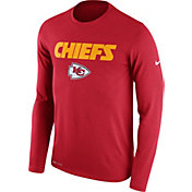 Nike Men's Kansas City Chiefs Essential Lockup Red Long Sleeve Shirt
