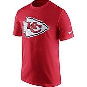 Nike Men's Kansas City Chiefs Essential Logo Red T-Shirt