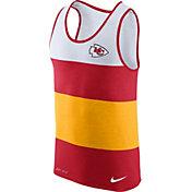 Nike Men's Kansas City Chiefs Wide Stripe Performance Red Tank Top