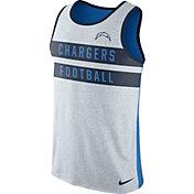Nike Men's San Diego Chargers Stripe Tri-Blend Blue Tank