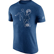 Nike Men's Indianapolis Colts Tri-Blend Historic Logo Blue T-Shirt