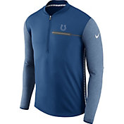 Nike Men's Indianapolis Colts Sideline 2017 Coaches Blue Half-Zip Top