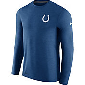 Nike Men's Indianapolis Colts Sideline 2017 Coaches Blue Long Sleeve Shirt