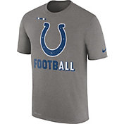 Nike Men's Indianapolis Colts Sideline 2017 Legend Football Performance Grey T-Shirt