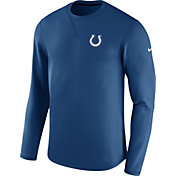 Nike Men's Indianapolis Colts Sideline 2017 Modern Crew Blue Long Sleeve Top