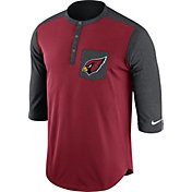 Nike Men's Arizona Cardinals Dri-FIT Touch Henley Red Three-Quarter Sleeve Shirt