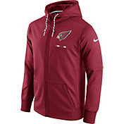 Nike Men's Arizona Cardinals Sideline 2017 Therma-FIT Full-Zip Red Hoodie
