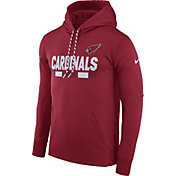 Nike Men's Arizona Cardinals Sideline 2017 Therma-FIT Red Performance Hoodie