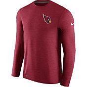 Nike Men's Arizona Cardinals Sideline 2017 Coaches Charcoal Long Sleeve Shirt