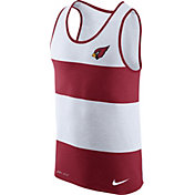 Nike Men's Arizona Cardinals Wide Stripe Performance Red Tank Top