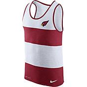 Nike Men's Arizona Cardinals Wide Stripe Performance Red Tank Top