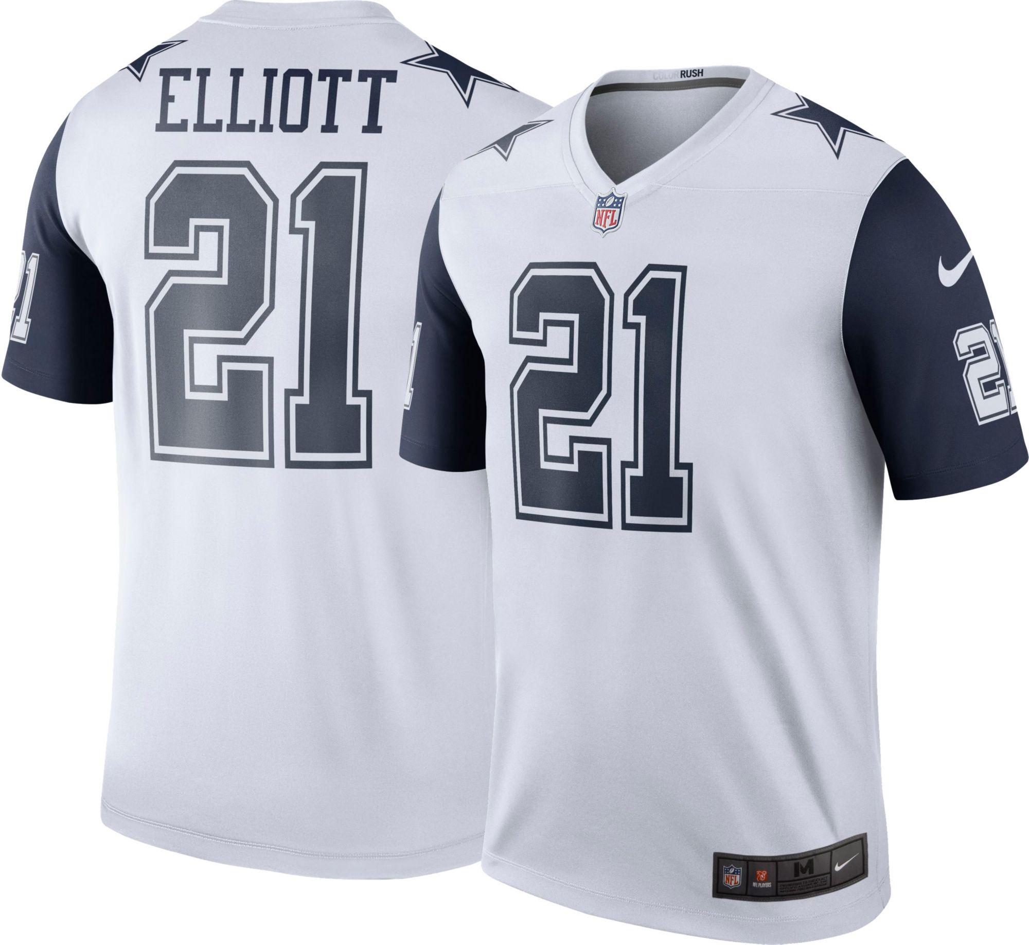 b21dc56f ... Product Image · Nike Mens Color Rush Dallas Cowboys Ezekiel Elliott 21  Legend Game Jersey ...