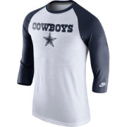 Nike Men's Dallas Cowboys Tri-Blend Historic Raglan White/Navy T-Shirt
