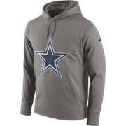 Nike Men's Dallas Cowboys Performance Circuit Logo Essential Grey Hoodie