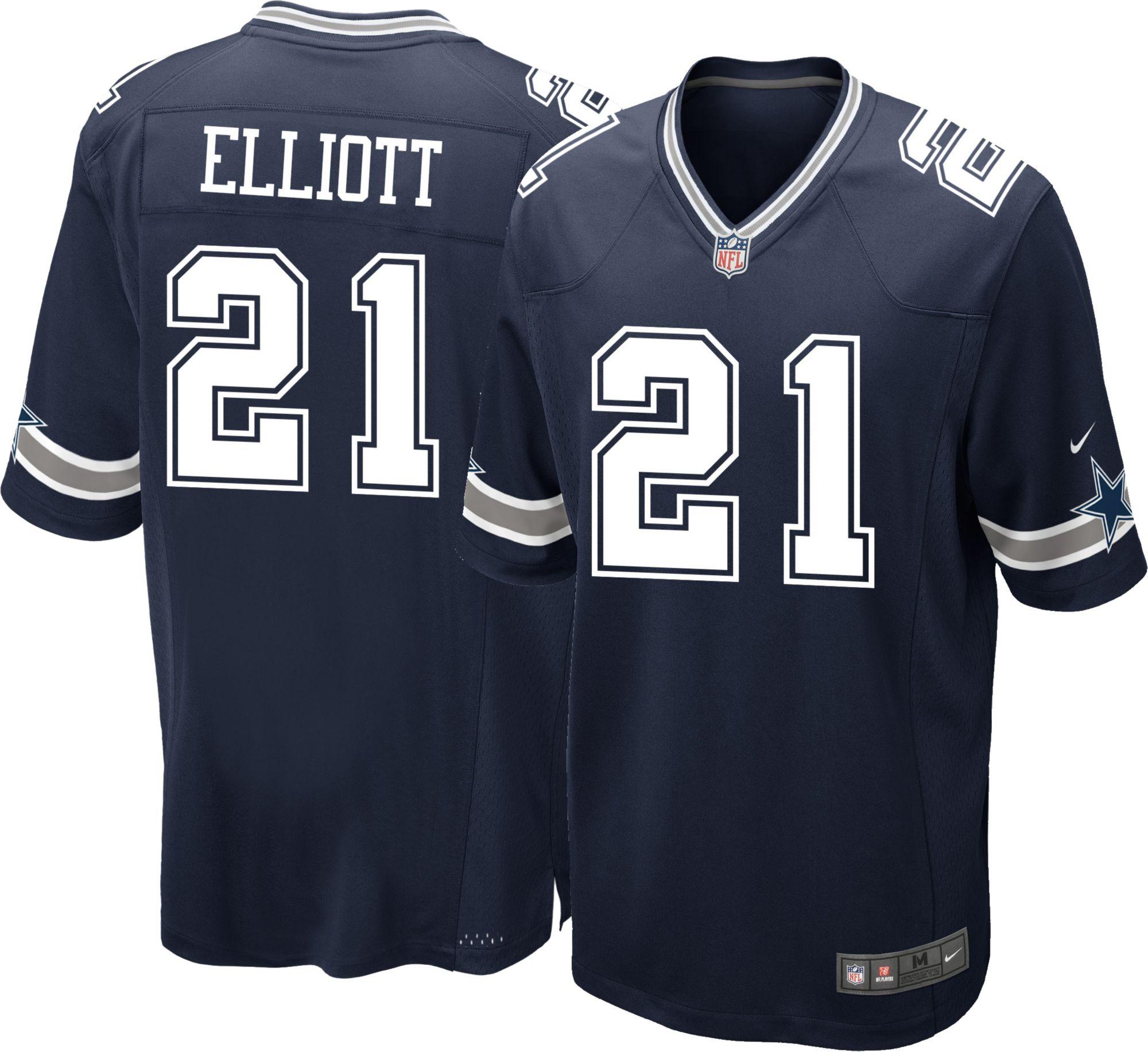 017e948d166 ... Product Image · Nike Mens Home Game Jersey Dallas Cowboys Ezekiel  Elliott 21 Blue Tyron Smith ...