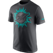 Nike Men's Miami Dolphins Travel Reflective Anthracite T-Shirt