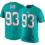 Nike Men's Miami Dolphins Ndamukong Suh #93 Pride Aqua T-Shirt