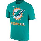 Nike Men's Miami Dolphins Sideline 2017 Legend Football Performance Aqua T-Shirt