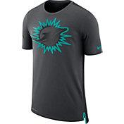 Nike Men's Miami Dolphins Sideline 2017 Travel Anthracite T-Shirt