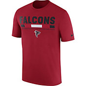Nike Men's Atlanta Falcons Sideline 2017 Legend Staff Performance Red T-Shirt