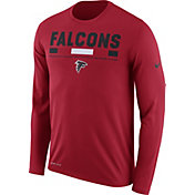 Nike Men's Atlanta Falcons Legend Staff Red Long Sleeve Performance Shirt