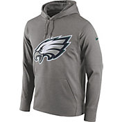 Nike Men's Philadelphia Eagles Circuit Logo Grey Pullover Hoodie