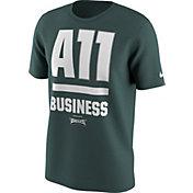 Nike Men's Philadelphia Eagles Carson Wentz A11 Business Green T-Shirt