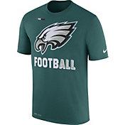 Nike Men's Philadelphia Eagles Sideline 2017 Legend Football Performance Green T-Shirt