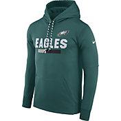 Nike Men's Philadelphia Eagles Sideline 2017 Therma-FIT Teal Performance Hoodie