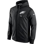 Nike Men's Philadelphia Eagles Sideline 2017 Therma-FIT Full-Zip Black Hoodie