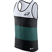 Nike Men's Philadelphia Eagles Wide Stripe Performance Black Tank Top